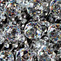 10Pcs Prism Crystal Chandelier Ball Rainbow Sun Catcher Wedding Decor Lamp 0.8''