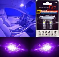 LED 3030 Light Purple 12000K 194 Two Bulbs License Plate Tag Replacement Show