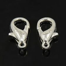 100pcs Silver Lobster Claw Parrot Clasps Hook for Jewelry Findings Making Craft