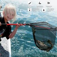 31'' Aluminum Alloy Fishing Net Foldable Handle Landing Net Portable Telescopic