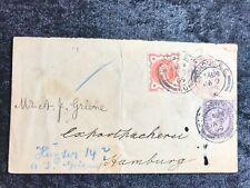 ALT ENGLAND echt gelaufener Beleg 1899 - London -  Hamburg