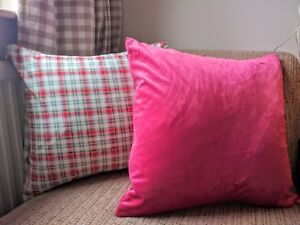 """Decorative cushions cover velvet cotton handmade with love 18x18"""""""