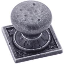 Qty 3 - Amerock BP4484WID Ambrosia Euro Stone Square Knob Wrought Iron Dark
