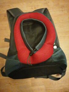 Pet Backpack Carrier for Small Dog Cat Puppy(8lb Max) red