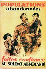 WW2 - Photo affiche allemande 1940 - Faites confiance au soldat allemand