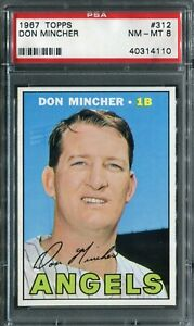 1967 Topps #312 Don Mincher PSA 8 NM-MT