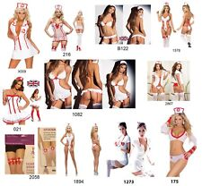 NEW WOMANS LADIES SEXY NAUGHTY NURSE COSTUME HEN DOO FANCY DRESS PARTY OUTFIT