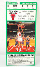 1994 Chicago Bulls Playoff Ticket New Jersey Nets