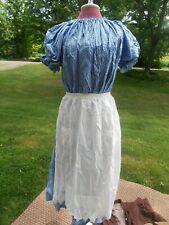 Pioneer Prairie  DRESS Apron Tickle Trunk Treasures Costume blue calico
