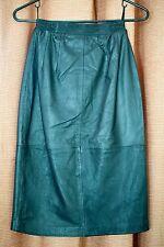 Vintage 1980s Sexy Black Leather Slim Skirt - Size 4P