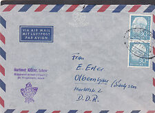Bund Heuss 187 MeF auf Lupo/Bahnpostbrief; sehr selten