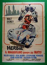 M69 MANIFESTO 2F DISNEY MAGGIOLINO CAR VOLKSWAGEN HERBIE MAGGIOLINO SEMPRE MATTO