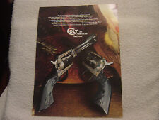 Colt Arms Single Action Army c 1970 brochure catalog