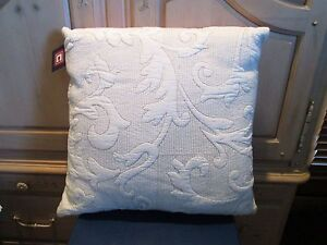 CHAPS HOME WHITNEY 18 SQ BEIGE FRONT QUILTED DECORATIVE BED PILLOWS - SET OF 2