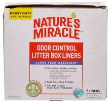 Nature's Miracle Odor Control Litter Box Liners - Large Tear Resistant