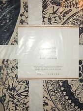 Pottery Barn Ari King Size Duvet Cover Blue
