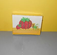 Red Pincushions Tomato Sewing Cushion Writing Notes unused in Box Stationery
