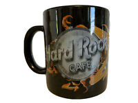 HARD ROCK CAFE Atlanta Love All Serve All Jumbo Big Coffee Mug Cup Black Flames