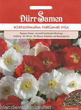 Klatschmohn Mohnblume Klatschrose Heilpflanze National Mix 2500 Korn Papaver