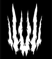 "Monster Animal Scratch Claw Marks Car Auto Vinyl Decal Sticker Graphic  3.3""x5"""