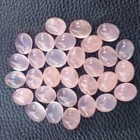 G28219 Oval Shape 27.5 Carat Natural Beautiful Rose Quartz Gemstone Wholesale Supplies Quartz Cabochon Jewelry Making Gemstone