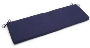 """Outdoor Bench Cushion 60"""" wide, 20"""" deep, 3"""" thick, Dark Blue Solid"""