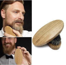 Natural Boar Bristle Beard Brush Moustache Wood Grooming Mens Oil Comb Growth