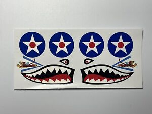 Cox .049 P-40 Warhawk Airplane Sticker Set With flying Tiger (Reproduction)