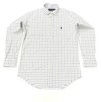 Polo Ralph Lauren Men's Classic Fit Performance Check Shirt In White Size M