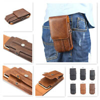 GB-Store Button Belt card holder Magnetic Leather Pouch Case Cover  Mobile Phone