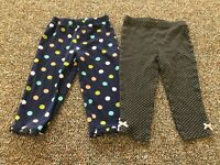 Carter's Set of 2 Girls Spotted Pants 18M