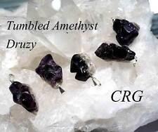 Tumbled Amethyst Druzy Pendant