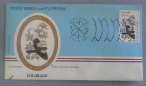 First day of issue, 1982 State Birds and Flowers, Colorado, Scott # 1958