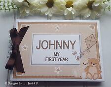 PERSONALISED  NEW BABY BIRTHDAY / CHRISTENING / GIRL/ BOY  PHOTO SCRAPBOOK ALBUM