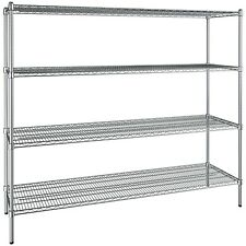 Any Size 4 Shelf Heavy Duty Chrome Metal Wire Rack Commercial Store Shelving