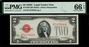 1928C $2 Legal Tender FR-1504 - Graded PMG 66 EPQ - Gem Uncirculated