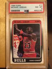 1988 Fleer Michael Jordan Bulls PSA 8 #117
