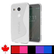 """Google LG Nexus 5X Soft Transparent Clear TPU Silicone Cover Case Canada 5.2"""""""