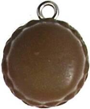 Macaron argilla polimerica Ø 15 MM Cioccolato - MegaCrea