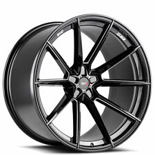 4ea 20x10 Savini Wheels SV-F4 Gloss Black Milled Rims (S7)