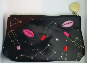 Estee Lauder Black Lipstick design Cosmetic Makeup/wash/travel Bag 23x6x13cm New