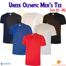 Unisex Men's Olympic T-Shirt Soft Lightweight Plain Casual 100% Cotton Tee Shirt