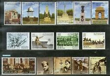 India 2019 Indians in World War Military Monuments Aircraft Stamps 15v Mnh