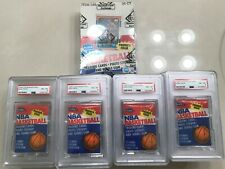 1986 Fleer NBA Basketball Box equivalent=36 PSA graded Packs NM-MT 8 + NM-MT Box