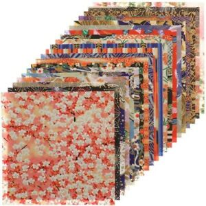 "Japanese Origami Paper (Yuzen No. 2) 6"" Washi 20 Design 20 Sheets Made in Japan"
