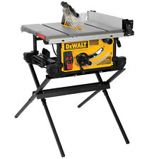 "DEWALT 10"" Compact Table Saw w/ Scissor Stand DWE7490X Reconditioned"