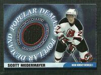 SCOTT NIEDERMAYER 03-04 TOPPS PRISTINE POPULAR DEMAND GAME WORN JERSEY DEVILS