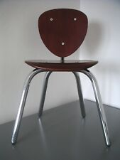 "Marc Newson 1988/1990 Cappellini ""Sine"" - Chair/Chair/Design Icon/Steel-Wood"