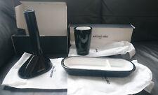 Antonio Miro bathroom accessories set (in gloss black and white ceramic)