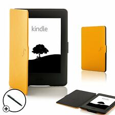 LEATHER GIALLO GUSCIO smart cover custodia per Amazon Kindle Paperwhite 2015 + Stylus